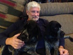 David with black pups